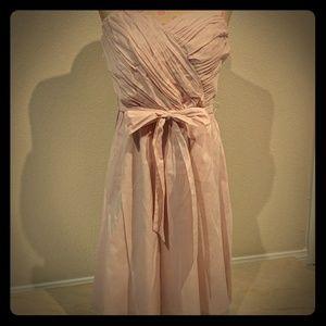 Light Pink Strapless Dress from Express